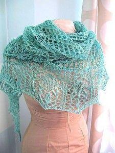 Razor Shell Scarflette - Free Knitting Pattern for a