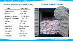 Calcium Ammonium Nitrate (CAN) Fertilizer: Calcium Nitrate granular for…