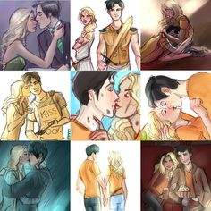 Percabeth. -- i love this  Much love in the air they inhale