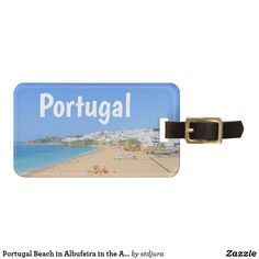Shop Portugal Beach in Albufeira in the Algarve Travel Luggage Tag created by stdjura. Bag Tag, Algarve, Travel Luggage, Beautiful Beaches, Usb Flash Drive, Portugal, Usb Drive