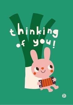 Bora Thinking of you wenskaart #Card #Valentine from http://www.kidsdinge.com    https://www.facebook.com/pages/kidsdingecom-Origineel-speelgoed-hebbedingen-voor-hippe-kids/160122710686387?sk=wall    http://instagram.com/kidsdinge