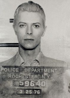 David Bowie  Back story - Arrested in Rochester, New York in March 1976 on a felony pot possession charge.  During his Thin White Duke era, he was arrested with Iggy Pop and two other co-defendants at a Rochester hotel following a concert.