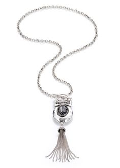 silver #necklace with #fringes #bonprix