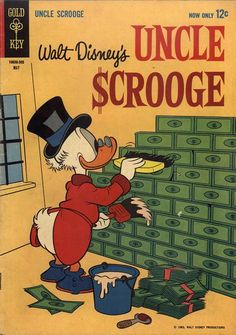 A cover gallery for the comic book Uncle Scrooge Vintage Disney Posters, Vintage Cartoons, Vintage Comic Books, Old Cartoons, Vintage Comics, Cartoon Wallpaper, Disney Wallpaper, Classic Comics, Classic Cartoons