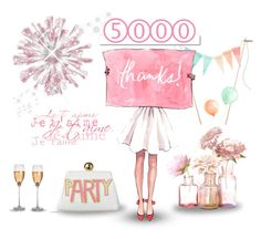 """""""Thank you! 5000 followers!"""" by molly2222 ❤ liked on Polyvore featuring art"""
