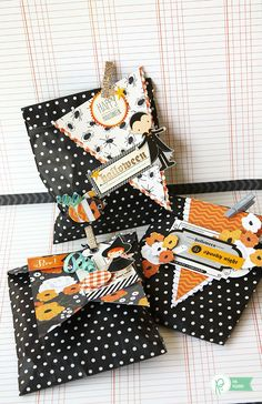 Halloween Treat Bags by @evapizarrov using the #ThirtyOne collection from @pebblesinc
