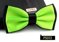 fashion Wedding solid contrast bow tie green black silk butterflies mens Cravat gravitas borboleta 21 colors,neckties 12CM*6.5CM