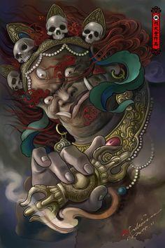 Custodian Artwork by Hailin Fu www.facebook.com/... Instagram:@Hailin Tattoo