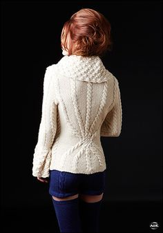 Army of Knitters: Howlite jacket, Tanzanite shorts and stockings Inspiration @Af's 24/1/13
