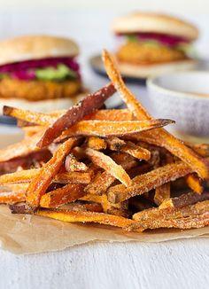 Crispy Oven-Baked Sweet Potato Fries!: root vegetable recipe