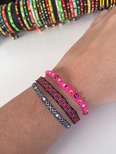 d52a2f0b644e pulseras telar egipcio handmade in Colombia...colores tierra... www ...