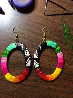Lorded Zephier- porcupine quill earrings