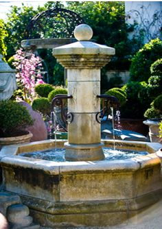 antique french fountain