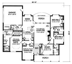 2335 Sq. Ft. House Plan [23-013-105] from Planhouse - Home Plans, House Plans, Floor Plans, Design Plans