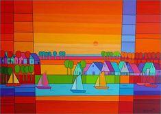 Uitleen en verkoop van hedendaagse kunst voor bedrijven en particulieren. Meer dan 45.000 kunstwerken van ruim 3.000 kunstenaars, geheel online te bekijken. Kunst van zowel jonge talenten als gevestigde namen. Watercolour Painting, Watercolors, Landscape Quilts, Beach Art, Home Art, Graphic Art, Canvas Art, Artsy, Drawings