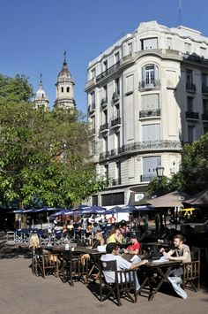Located at the heart of San Telmo, Plaza Dorrego is the second-oldest square in the city after Plaza de Mayo. #BuenosAires #LikeaLocal #Travel #Argentina #Michelin