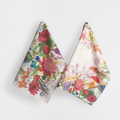 BOTANICAL PRINT TEA TOWEL (SET OF 2) - Kitchen Textiles - Tableware | Zara Home United Kingdom Zara Home, Ceramic Tableware, Towel Set, Botanical Prints, Kitchen Towels, Tea Towels, Floral Tie, Textiles, The Unit