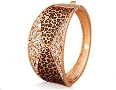 I checked out 18K Gold Plated Alloy Jeweled Stencil Floral Bracelet (Gold) on Lish, $40.00 CAD