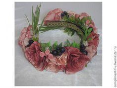 Купить Венок Нежность - бледно-розовый, венок, венок из цветов, венок с цветами, венок на голову