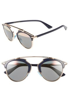 57a2573ad88df DIOR So Real 48Mm Brow Bar Sunglasses.  dior   Cool Sunglasses, Sunglasses  Accessories