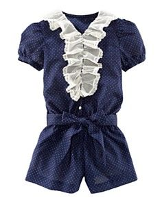 Ralph Lauren romper with lace, so cute for spring!