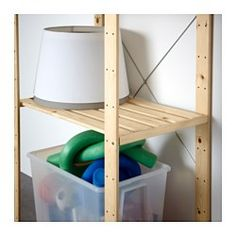 IKEA - HEJNE, 1 sektion, 78x50x171 cm, , Du kan nemt udvide din opbevaringsløsning, hvis du får brug for mere opbevaring, ved at tilføje flere sektioner og hylder.Ubehandlet massivt træ er et holdbart naturmateriale, der bliver endnu mere holdbart og nemt at vedligeholde, hvis du behandler overfladen med olie eller voks.Du kan gøre møblerne endnu mere personlige ved at behandle dem med bejdse eller lak i din yndlingsfarve.
