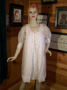 Fab Vintage Nightgown, Rapunzel, Nightwear, Night Gown, Fancy Dress, Chiffon, Gowns, Trending Outfits, Pink