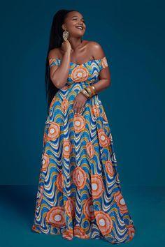 African Print Off la robe de soirée épaule   Etsy #africanclothing