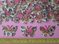 25 Beautiful Colourful Butterfly Punchies (New) !!! + BONUS !!! Please see all photos !!!