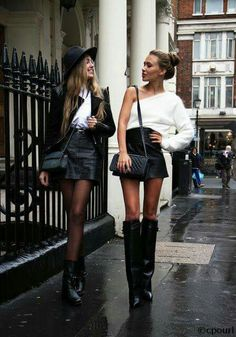 Fall Street Style Outfits to Inspire Herbst Streetstyle Mode / Fashion Week Week Mode Outfits, Casual Outfits, Fashion Outfits, Womens Fashion, Fashion Trends, Fashion Lookbook, Fashion 2015, Winter Outfits, Jeans Fashion
