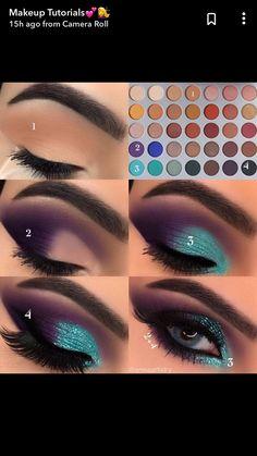 Make-up-Ideen Jaclyn Hill Palette 38 Ideen Hill Ideas Jaclyn Make-up-Palette Makeu … – … - Makeup İdeas Fairy Eye Makeup Steps, Makeup Eye Looks, Eye Makeup Art, Smokey Eye Makeup, Lip Makeup, Beauty Makeup, Creative Eye Makeup, Colorful Eye Makeup, Makeup Hooded Eyes