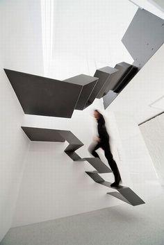21 Diseños de escaleras flotantes