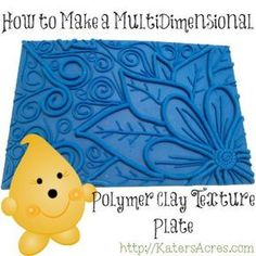 A YouTube video tutorial & instructional on how to make multi-dimensional polymer clay texture plates using clay, extruder, simple tools, & a toaster oven.