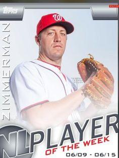 Topps Bunt NL Player of The Week Jordan Zimmerman Nationals Only 693 Exist | eBay