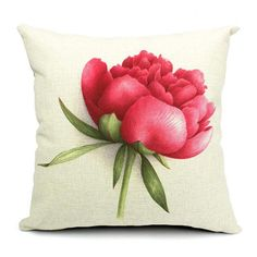 Euro Style Home Decor Cushion Cover Throw Pillows Sofa Char Seat Vintage Flowers Cushion Cover for Sofa Decorative Pillow Cover - On Trends Avenue Cheap Throw Pillow Covers, Sofa Throw Pillows, Floral Throw Pillows, Linen Pillows, Throw Pillow Cases, Decorative Pillow Covers, Designer Throw Pillows, Accent Pillows, Linen Sofa