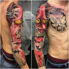 Japanese Style Tattoo 121 Yakuza Tattoo Hannya Mask with regard to Japanese Tattoo Style - Fashion Style Ideas Japanese Mask Tattoo, Tattoo Japanese Style, Japanese Tattoos For Men, Traditional Japanese Tattoos, Japanese Tattoo Designs, Japanese Sleeve Tattoos, Full Sleeve Tattoos, Cover Up Tattoos, Yakuza Tattoo