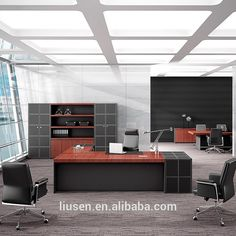 Quality Assurance Durable Boss Office Furniture Luxury Solid Wood Modern Desk