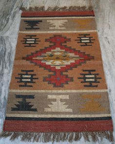 Hand woven Vintage Turkish Kilim Anatolian Multi Color Boho Kilim Wool Jute Rug #Turkish