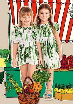 ALALOSHA: VOGUE ENFANTS: Must Have of the Day: DOLCE & GABBANA Girls Green 'Piselli' Playsuit