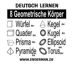 www.engerman.de German Grammar, German Words, Language School, Language Study, Learn German, Learn English, Fractions Worksheets Grade 3, Germany Language, French Verbs