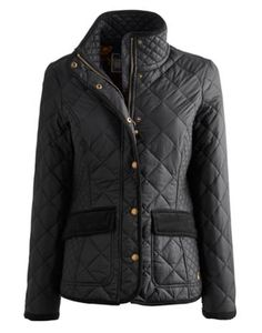 Joules Womens Quilted Jacket, Black.