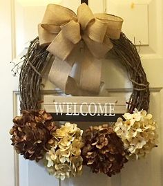 A personal favorite from my Etsy shop https://www.etsy.com/listing/462520033/fall-wreath-front-door-decor-welcome