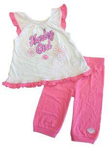 Harley Davidson® Girls Jersey Capri Set Harley Girl Tank Pant 2312328 2322328 | eBay
