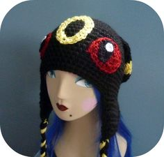 Umbreon Pokemon Beanie Hat Crochet (4)