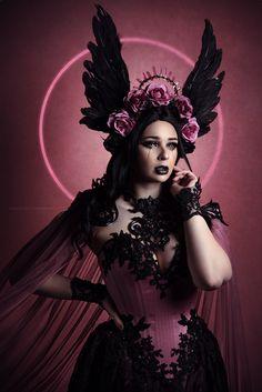 Enochian - Jess Hess on Fstoppers Dark Beauty, Gothic Beauty, Fantasy Photography, Portrait Photography, Look Fashion, Fashion Photo, Headdress, Headpiece, Greek Goddess Art