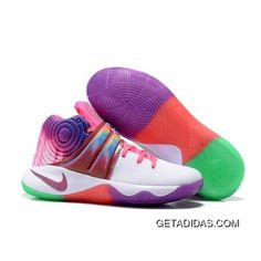 Now Buy For Sale Nike Kyrie 2 Sneakers White Rainbow Save Up From Outlet Store at Footseek. Nike Shox Shoes, Buy Nike Shoes, Discount Nike Shoes, Nike Shoes For Sale, New Jordans Shoes, Adidas Shoes, Nike Sneakers, Air Jordans, Basketball Shoes On Sale