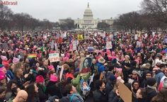 Protesto contra Donald Trump: Milhares de pessoas fazem Marcha das Mulheres em Washington