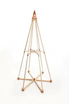 This Jubiltree Wooden Tree was crafted in Mainefrom solid U.S. maple and cherry. It's a completely modern take on a very special tradition--the Christmas tree! Decorate it to reflect your signature style.  | The Jubiltree Company, LLC  | Modern Wood Christmas Trees