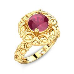 Red Fire Ruby Ring