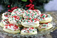 Christmas Lofthouse Cookies, a popular grocery store and bakery cookie confection in a homemade version, proving that homemade is always better! Sour Cream Cookies, Classic Peanut Butter Cookies, Christmas Cooking, Christmas Desserts, Christmas Treats, Christmas Recipes, Christmas Goodies, Holiday Recipes, Christmas Entertaining